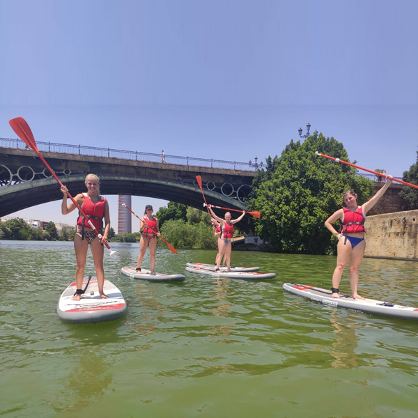 sevilla suppen sup peddelsurfen paddle
